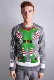 Mens Novelty Elf Christmas Jumper